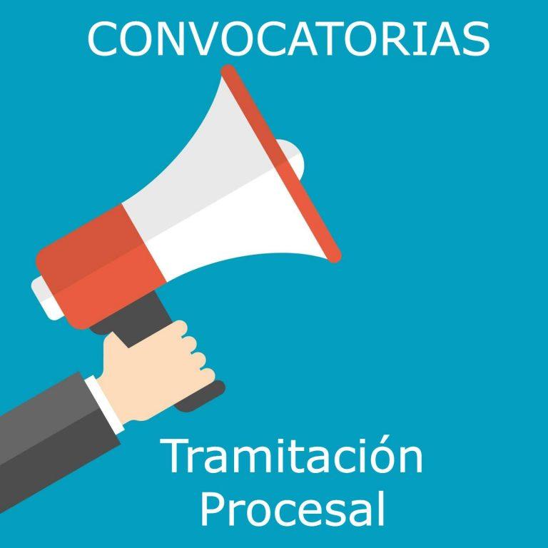 Información sobre oferta pública de empleo y convocatorias de las oposiciones a tramitación procesal