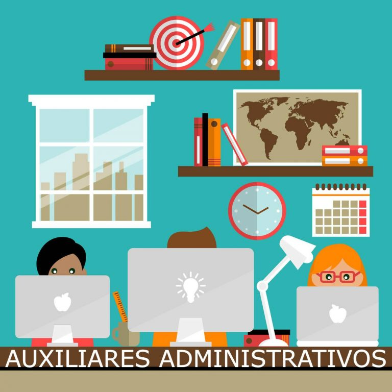 Información, tests y convocatorias de las oposiciones a auxiliares administrativos del Estado