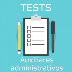 Tests oficiales de las oposiciones a auxiliares administrativos