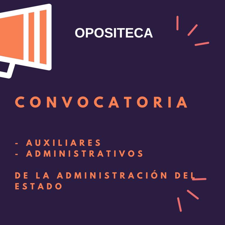 Imagen de la convocatoria de administrativos y auxiliares